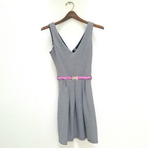 Poof Couture Stripe Fit & Flare Dress